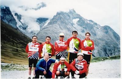 Grupo en Lautaret