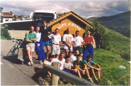 Grupo en Alpe D´Huez