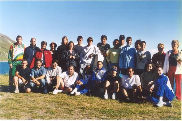 Grupo en el Lago de Mont Cenis