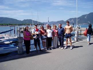 Grupo en el Lago D'Iseo