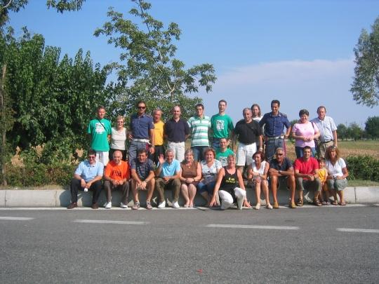 Grupo en una parada del viaje